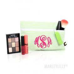 Monogrammed Small Cosmetic Bag