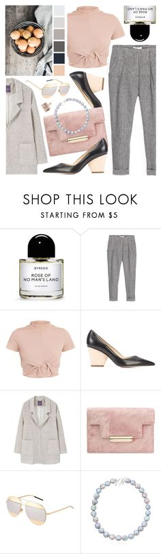 """""""Rose & Peach"""" by ladomna ❤ liked on Polyvore featuring Byredo, MANGO, Paul Andrew, Christian Dior and Claudia Bradby"""