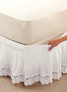Fantastic Photo Wraparound Lace-Trimmed Bedskirt Suggestions The IKEA Kallax series Storage furniture is an essential part of any home. Home Decor Furniture, Home Decor Bedroom, Diy Home Decor, Bed Wrap, Lace Bedding, Chic Bedding, Sofa Covers, Bed Spreads, Bed Sheets