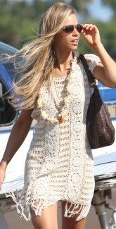Crochet Dress for Spring!  I love the fringe along the bottom     #spring #summer #coachella #style #fashion #bohemian #hippie #hippy #beach http://www.southbeachswimsuits.com