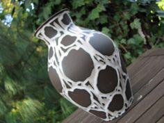 Large Ankara Fat Lava Vase – Carstens Tönnieshof 1245-25 – Vintage 1960s Sixties – WGP – Mid Century Modernist – Python Look – Brown & White von everglaze auf Etsy