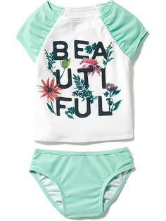 2-Piece Graphic Rashguard Set for Baby Product Image
