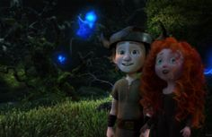 Little Merida and Hiccup 2 If u look at Merida's left hand it looks like she's holding Hiccup's hand