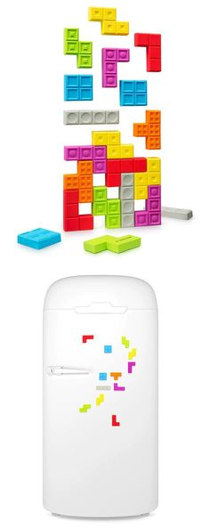 Tetris fridge magnet // fun! #product_design
