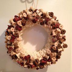 Handmade Spool wreath by AuntieKaysKrafts on Etsy