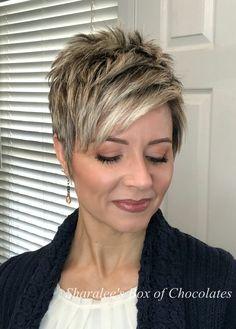 Short Hair Back, Funky Short Hair, How To Curl Short Hair, Short Hair Older Women, Short Grey Hair, Very Short Hair, Short Hair Syles, Short Hair Trends, Pixie Haircut Fine Hair