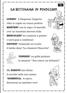 Adotterò questa filastrocca per narrarla ad Alessandro bimbo  di 2 anni. Short Poems, Italian Language, Pinocchio, Problem Solving, Fairy Tales, Classroom, Teaching, Education, School