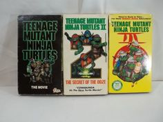 Teenage Mutant Ninja Turtles The Movie II and 3 VHS Tapes | DVDs & Movies, Wholesale Lots, VHS Tapes | eBay!