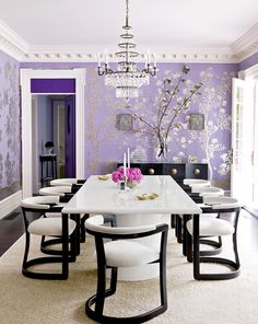 Mary McGee dining room as seen in House Beautiful March 2015
