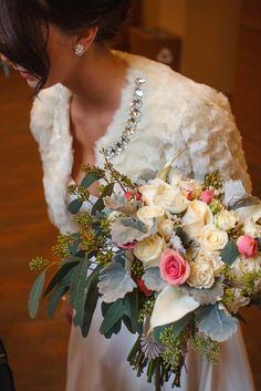 Vintage Bridal bouquet by Kaleb Norman James Design