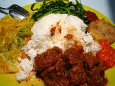 Indonesian food: Nasi Padang .it's my favorite! love it