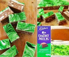 No Bake Chocolate Peppermint Slice Recipe