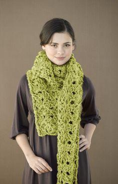 Free #Crochet Pattern: Lettuce Lace Scarf