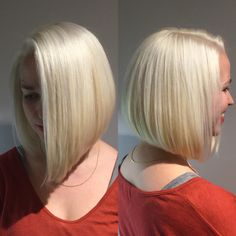 We can't get over this knockout color and fresh new length on Ali.  Blonding & cut by Bex. #blondehair #blonde #platinumblonde #longbob #haircut #goldwellcolor #goldwell #arrojo #aveda #modernsalon #behindthechair #hairbrained #villageonmain #northamptonma #northamptonsalon #onlyatvillage