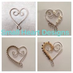 Sterling silver hearts which allow charms, words, initials to dangle off the bottom. Facebook.com/vintagenightingale