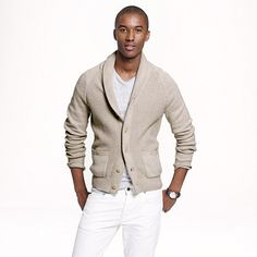 Cotton shawl-collar cardigan: This is a great sweater for the cool evenings at the end of the summer or an easy dinner out.