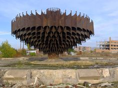 "shackway: "" Fountain on the edge of town in Gyumri, Armenia. This must have been quite impressive when it was still working. The location seems strange, but there was probably a plan to expand housing..."