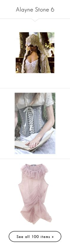 """""""Alayne Stone 6"""" by summersdream ❤ liked on Polyvore featuring fantasy, people, models, images, women, backgrounds, pictures, fairytale, medieval and tops"""