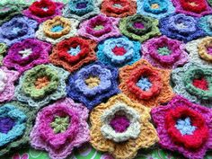 flowers and...crochet, of course!