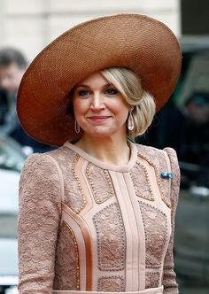 Queen Maxima of the Netherlands leaves after a meeting with French President Francois Hollande at the Elysee Presidential Palace on March 10, 2016 in Paris, France.