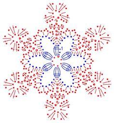 Crochet Snowflake Pattern, Crotchet Patterns, Crochet Snowflakes, Crochet Stitches Patterns, Doily Patterns, Crochet Diagram, Crochet Motif, Irish Crochet, Crochet Doilies