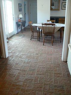 Wright's Ferry brick tile kitchen floor, Marietta color mix.