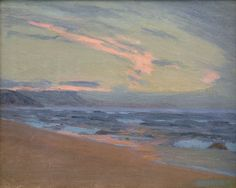 Arthur Wesley Dow (1857-1922) Sunset at Gay Head, Martha's Vineyard, MA, ca.1917 Oil on linen 14 x 18 inches