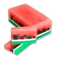 DIY Soap Making Recipe - Watermelon Soap.  Slices of juicy watermelon soap scented with Jolly Rancher Fragrance Oil. Yum!