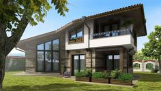 Вила | Inter Arh Ltd. - Architects & Partners Home Building Design, Building A House, My Dream, Villa, Exterior, Architects, Mansions, Dream Hotel, House Styles