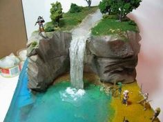 Miniature villages = Make A Diorama Waterfall