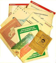 Sewing Machine Manuals or Replacement Manuals: Sewing Machine Manuals