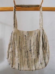 Woven bag from handspun Racka wool. Incredible.