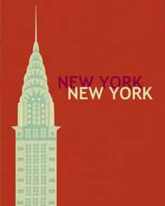 New York City, Chrysler Building -  Art Deco Vertical Art Poster Print