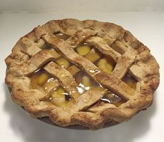 Fake Lattice Crust Apple Pie in Apple Pie Scent - Faux Pie - Farmhouse Kitchen Fake Food - Food Staging Prop