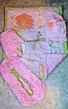Step by Step Dragonfly 4 Piece Crib Nursery Bedding Set Pink Green Comforter