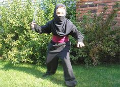 Ninja Costume Craft:  Check out your local Goodwill for all of your Halloween shopping : www.goodwillvalleys.com/shop