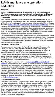 Opération séduction pour l'Artisanat selon Delphine Le Goff by Stratégies - Retrouvez l'interview @EricTongCuong, Co-Président Fondateur de #lachose