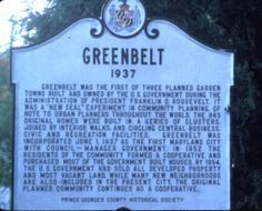 Greenbelt, Maryland, USA Greenbelt Maryland, History Major, Hometown Heroes, Prince Georges, U.s. States, Chesapeake Bay, Architecture Old, Ocean City, Us Travel