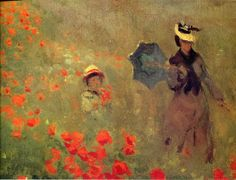 All of Claude Monet Paintings | Claude Monet Poppies At Argenteuil Close Up