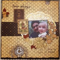 G45 French Country scrapbook layout | My Butterfly Garden