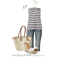 """Wedges, Denim and Stripes"""