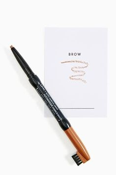 NYX Auto Eyebrow Pencil in Light Brown. Cruelty free. PETA approved brand. Not Leaping Bunny certified.