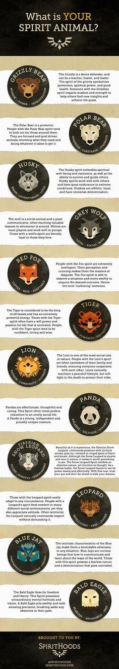 SpiritHoods Spirit Animal Quiz - What's Your Spirit Animal? #WolfTattooIdeas