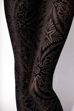 Revenge of the Burned Velvet Leggings. from Black Milk.  A subtle textural pattern that definitely demands a second look. Beautiful, and dangerous.