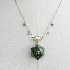 Mirage Widow Wraped D20 Necklace #MTG #Magic #Magic the Gathering
