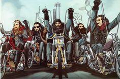 David Mann moto Art Poster mon vieux Gang Sturgis par darkartink