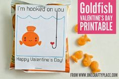 8 Goldfish Cracker Valentine Ideas - Be Different...Act Normal