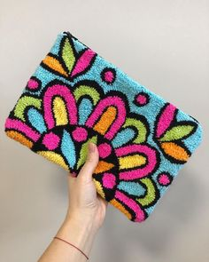 Hand Embroidery, Embroidery Designs, Leather Wallet Pattern, Punch Needle Patterns, Latch Hook Rugs, Sucker Punch, Crochet Wool, Punch Art, Punch Punch