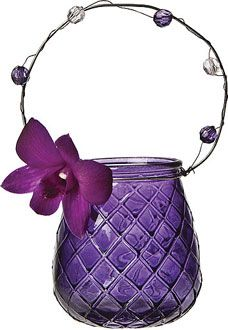 Purple Hanging Candle Holder and Vase