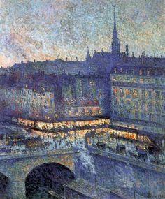 Maximilien Luce: La Sainte-Chapelle, Paris (1901). #painting #art #paint #impressionism #post-impressionism